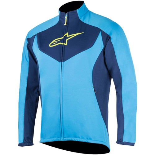 Clothing Men Jackets Alpinestars Bright Blue-Deep Blue 2017 Mid Layer MTB Jacket Blue