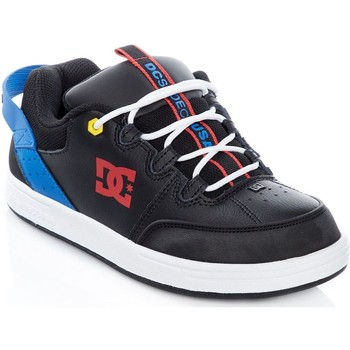 Shoes Men Low top trainers DC Shoes Black-Blue-Red Syntax Kids Shoe Black
