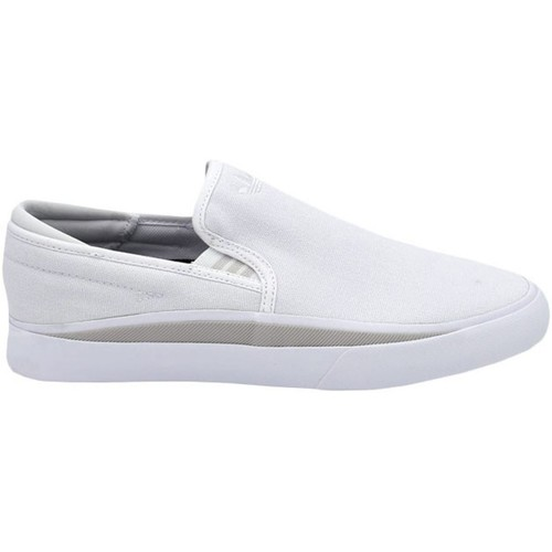 Shoes Men Slip-ons adidas Originals Footwear White-Grey One-Core Black Sabalo Slip On Shoe White