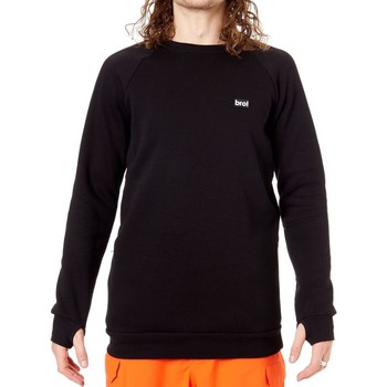 Clothing Men Fleeces Bro Black Chill N Shred Crew Snowboarding Sweater Black