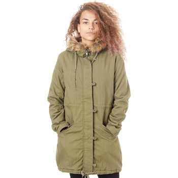 Clothing Women Parkas Roxy Burnt Olive Essential Element Womens Jacket Black