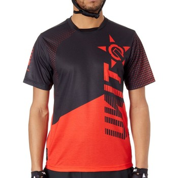 Clothing Men Short-sleeved t-shirts Unit Red Slant Short Sleeved MTB Jersey Red
