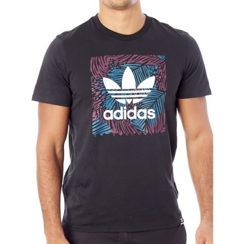 Clothing Men Short-sleeved t-shirts adidas Originals Black BB Palm T-Shirt Black