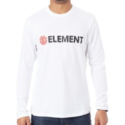 Clothing Men Long sleeved tee-shirts Element Blazin Optic White