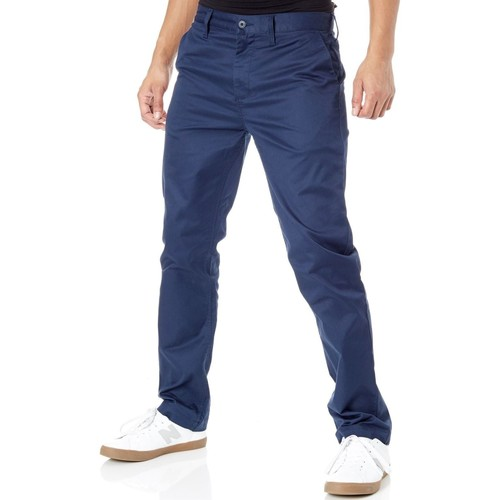 Clothing Men Chinos DC Shoes Black Iris Worker Straight Chino Pant Black