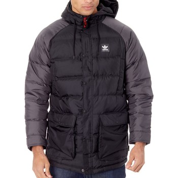 Clothing Men Duffel coats adidas Originals Black-Utility Black-Scarlet Down Jacket Black