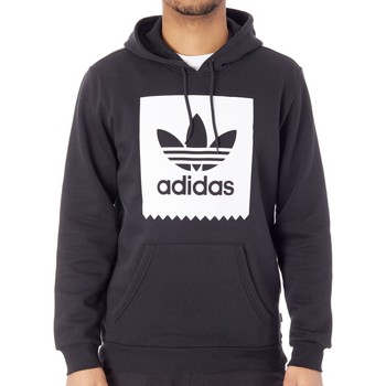 Clothing Men Fleeces adidas Originals Black-White Solid BB Hoody Black
