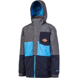 Clothing Boy Parkas Protest Ground Blue Elvon Kids Snowboarding Jacket Blue