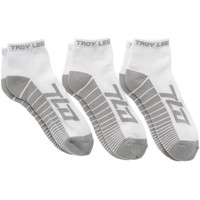 Shoe accessories Men Socks Troy Lee Designs White Factory Quarter Pack of 3 Socks White