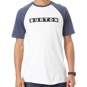 Clothing Men Short-sleeved t-shirts Burton Stout White SP18 Vault Raglan T-Shirt White