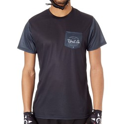 Clothing Men Short-sleeved t-shirts Unit Charcoal Voyage Short Sleeved MTB Jersey Black