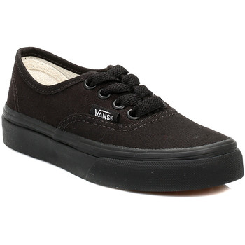 Vans  Kids Black Authentic Canvas Trainers  mens Shoes (Trainers) in black