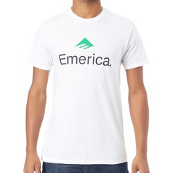 Clothing Men Short-sleeved t-shirts Emerica White-Green Skateboard Logo T-Shirt White