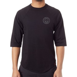 Clothing Men Short-sleeved t-shirts Spitfire Black-Grey Classic Swirl Reflective Raglan T-Shirt Black