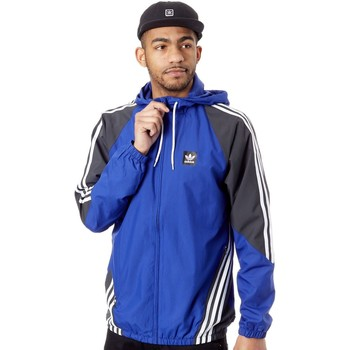 Clothing Men Track tops adidas Originals Active Blue-Dgh Solid Grey-White Insley Jacket Blue