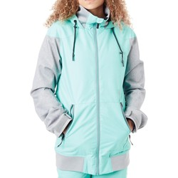 Clothing Women Parkas Volcom Jade Meadow Insulation Womens Snowboarding Jacket Green