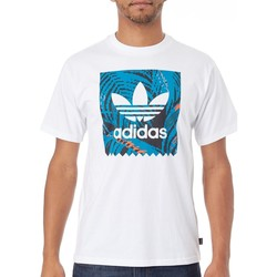 Clothing Men Short-sleeved t-shirts adidas Originals White-Active Teal-Active Orange BB Print 2 T-Shirt White