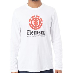 Clothing Men Long sleeved tee-shirts Element Vertical Optic White