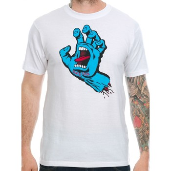 Clothing Men Short-sleeved t-shirts Santa Cruz White Screaming Hand T-Shirt White