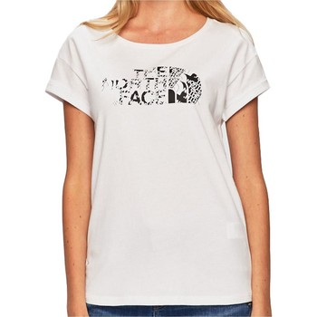 Clothing Women short-sleeved t-shirts The North Face TNF White Himalayan Womens T-Shirt White