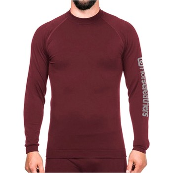 Clothing Men Long sleeved tee-shirts Horsefeathers Ruby Zeth Long Sleeved Baselayer Top Red