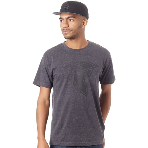 Clothing Men Short-sleeved t-shirts Famous Stars And Straps Charcoal Blasted T-Shirt Grey
