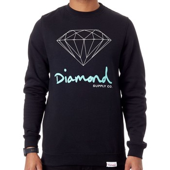Clothing Men Sweaters Diamond Supply Co. Black OG Sign Sweater Black