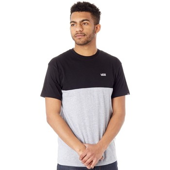 Clothing Men Short-sleeved t-shirts Vans Black-Athletic Heather Colourblock T-Shirt Grey