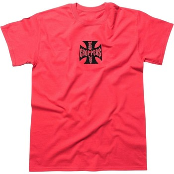 Clothing Men Short-sleeved t-shirts West Coast Choppers Red OG Cross T-Shirt Red