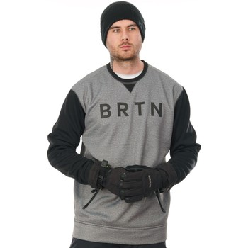 Clothing Men Sweaters Burton Crown Bonded Crew Snowboarding Sweater Grey