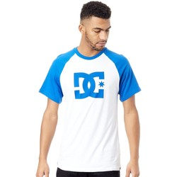 Clothing Men Short-sleeved t-shirts DC Shoes Nautical Blue-Snow White Star Raglan T-Shirt Blue