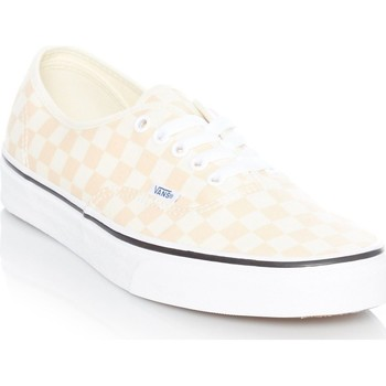 Shoes Men Low top trainers Vans Checkerboard-Apricot Ice-Classic White Authentic Shoe Orange
