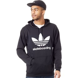 Clothing Men Fleeces adidas Originals Black-White Clima 3.0 Hoody Black