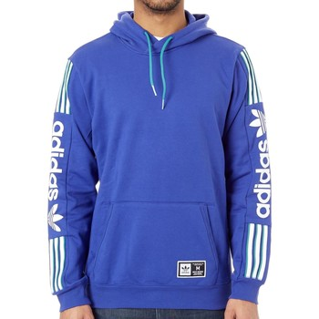Clothing Men Sweaters adidas Originals Active Blue-White-Active Green QRZ Hoody Blue
