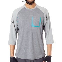 Clothing Men Long sleeved tee-shirts Race Face Black-Grey Stage MTB Jersey ¾ Sleeved Grey