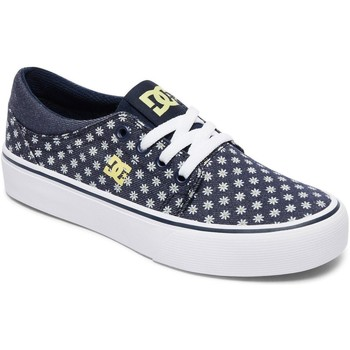 Shoes Girl Low top trainers DC Shoes Navy-Yellow Trase TX SE Girls Shoe Black