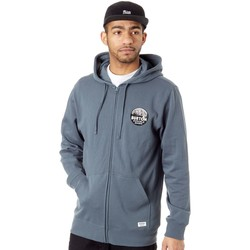 Clothing Men Sweaters Burton Dark Slate Taproot Zip Hoody Blue