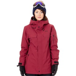 Clothing Women Parkas Oakley Insulated 10K 2 Layer Womens Snowboarding Jacket Red