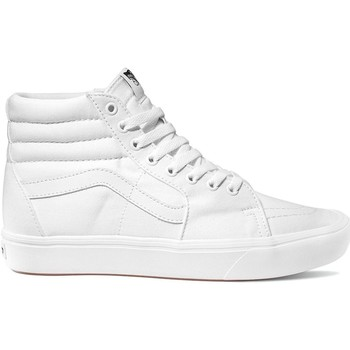 Shoes Men Hi top trainers Vans Classic True White-True White ComfyCush SK8-Hi Shoe White