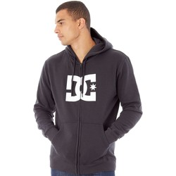 Clothing Men Fleeces DC Shoes Black  Star Zip Hoody Black