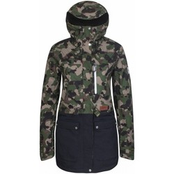 Clothing Women Parkas Planks British Camo Good Times - Insulated Womens Ski Jacket Brown