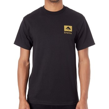 Clothing Men Short-sleeved t-shirts Emerica Black-Gold Brand Combo T-Shirt Black
