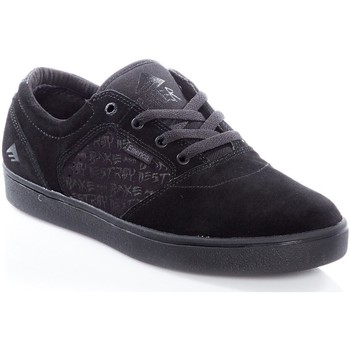 Shoes Men Low top trainers Emerica Black-Black Figgy Dose - Baker Collaboration Shoe Black