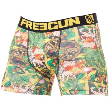 Underwear Men Boxer shorts Freegun Green-Yellow Jamaica Boxer Shorts Green