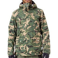 Clothing Men Parkas Wearcolour Forest Colour Anorak Snowboarding Jacket Green