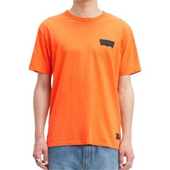 Clothing Men Short-sleeved t-shirts Levis Skateboarding Graphic T-Shirt Orange