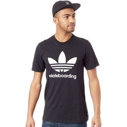 Clothing Men Short-sleeved t-shirts adidas Originals Black-White Clima 3.0 T-Shirt Black