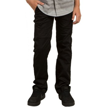 Clothing Boy Chinos Volcom Black Frickin Modern Stretch Kids Pant Black