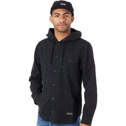 Clothing Men Jackets Emerica Black-Camo Grime Jacket Black