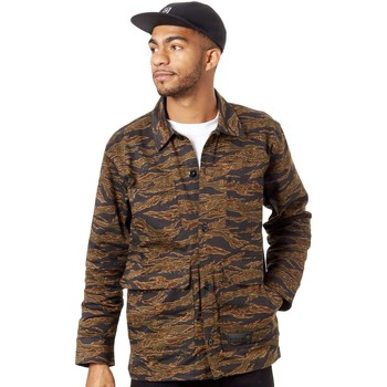 Clothing Men Jackets adidas Originals Camo Print Classic Jacket Brown